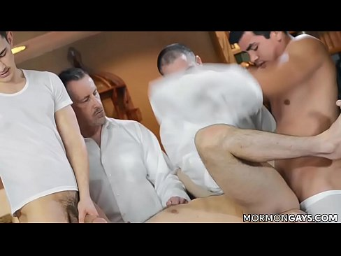 Twink Ends Up in Gangbang