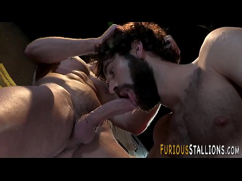 Hairy hunks ass railed